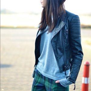 Zara lambs leather jacket